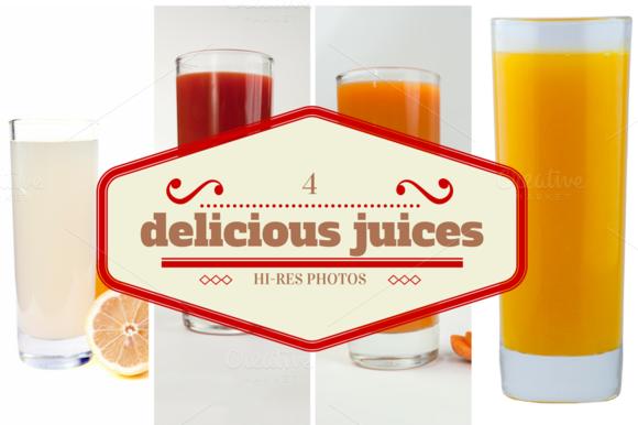 4 Delicious Juices-studio Photos