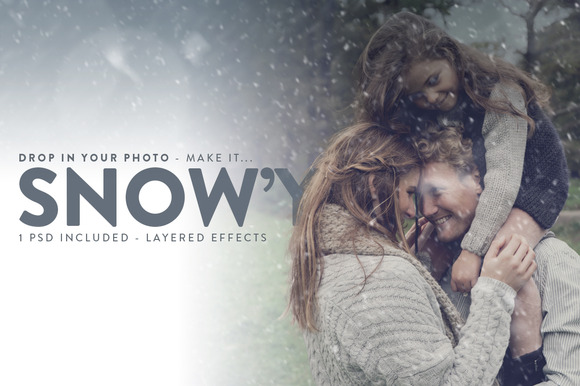 Snowy - Falling Snow Effects - Layer Styles - 1