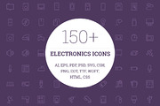 150+ Electronic Icons-Graphicriver中文最全的素材分享平台