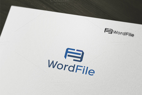 Word File Logo Word File Logo Template