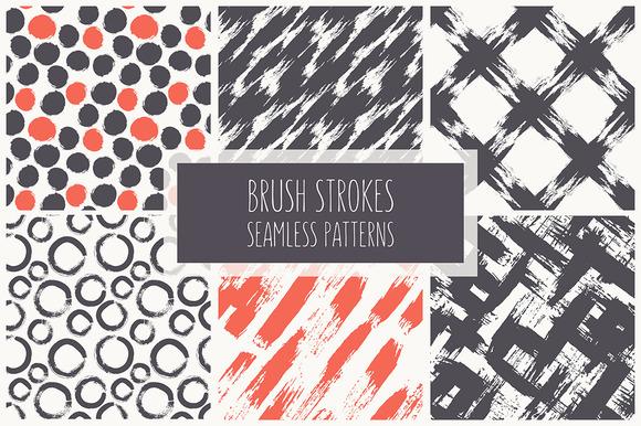 Brush Strokes. Seamless Patterns ▪ 1 - Patterns