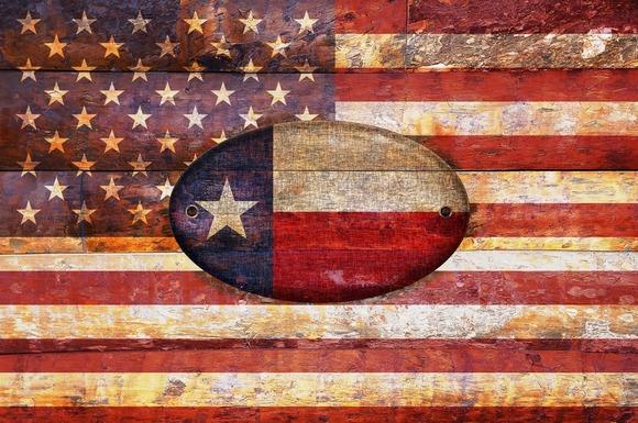 Usa And Texas Flags