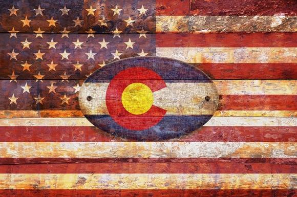 USA And Colorado Flags