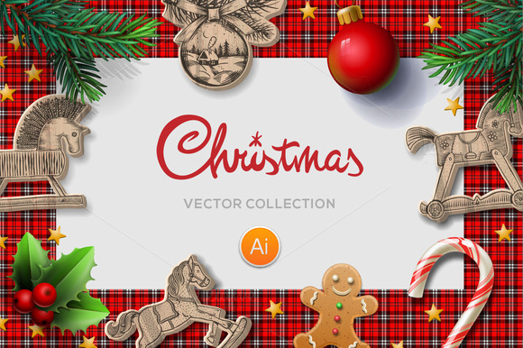 Vector Christmas MockUp - Product Mockups - 1