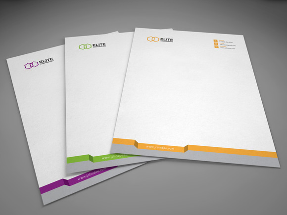 Letterhead 3 With Docx Stationery Templates On Creative
