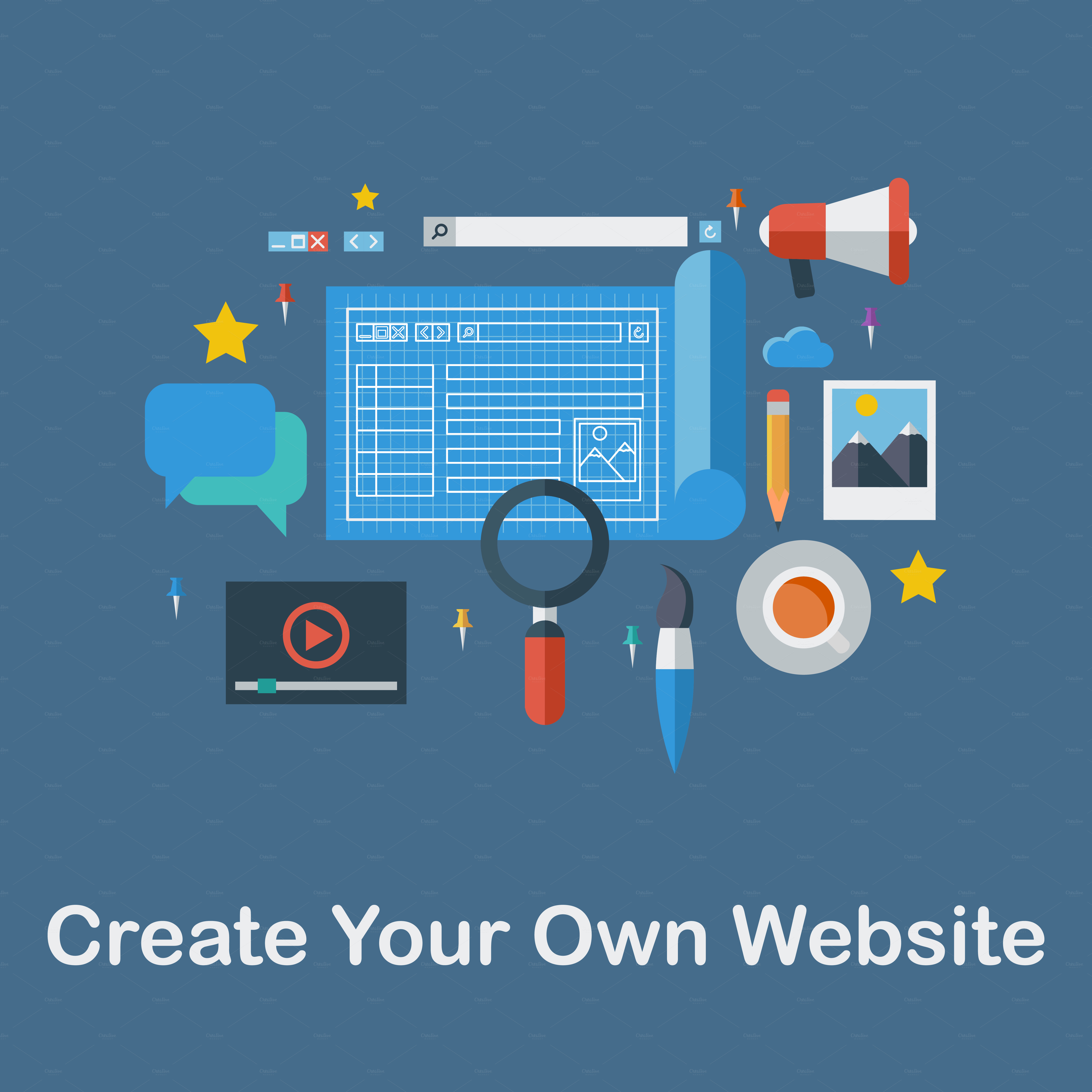 Create Your Own Website Icons On Creative Market