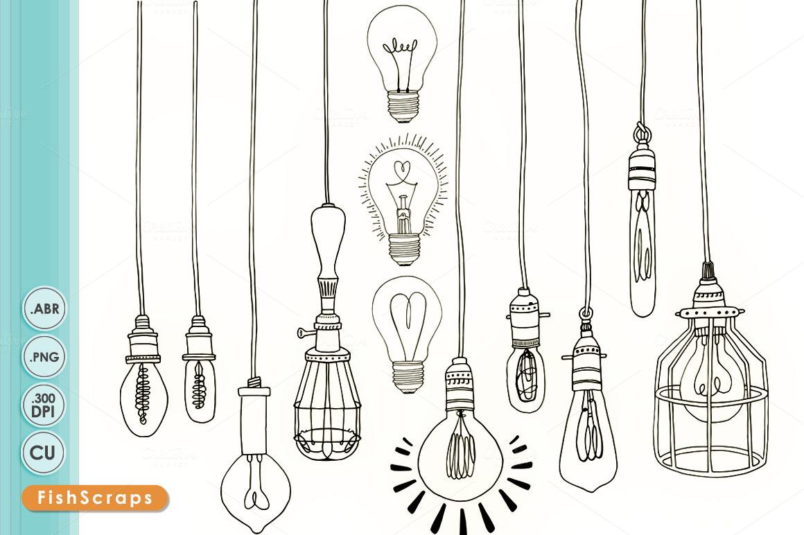 Light Bulb Drawing Vintage Edison Light Bulb Clip