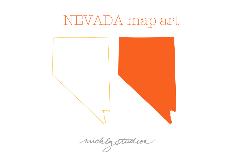 Nevada VECTOR Amp PNG Map Clipart  Illustrations On