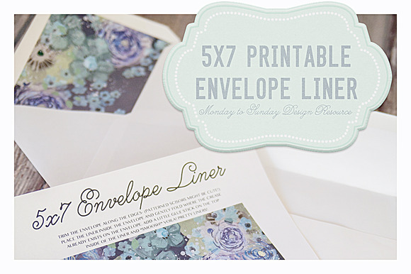 Save 50% 5x7 Handy Envelope Liners ~ Invitation Templates on