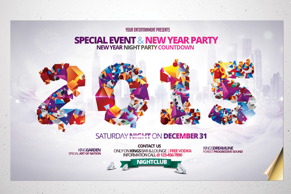 New Year 2015 Party - Flyers - 1