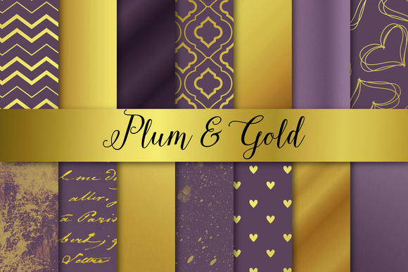 Plum And Gold Christmas Wedding