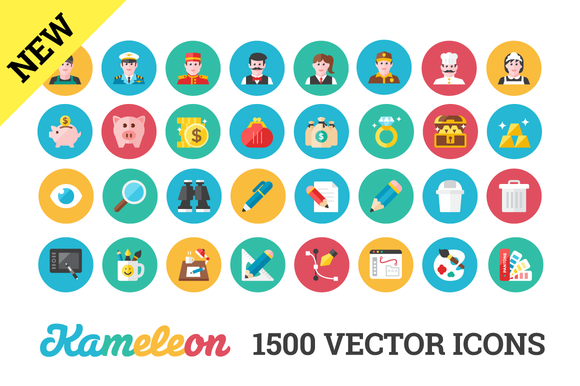1500 Flat Icons. Unlimited Colors. - Icons