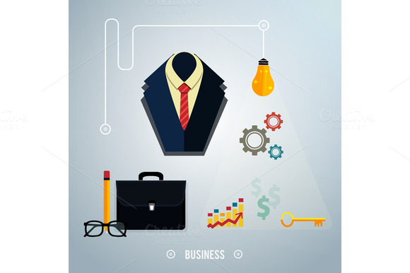 Business concept. Tools, interier - Graphics