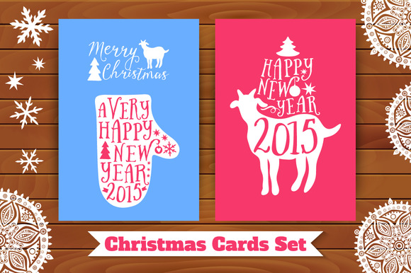 Christmas card set. 2015 - Illustrations