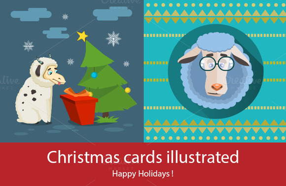 Square Christmas Cards