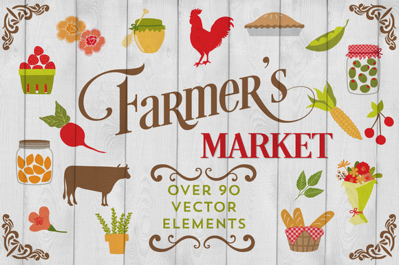 Farmers Market Themes Farmers Market Vector Graphics