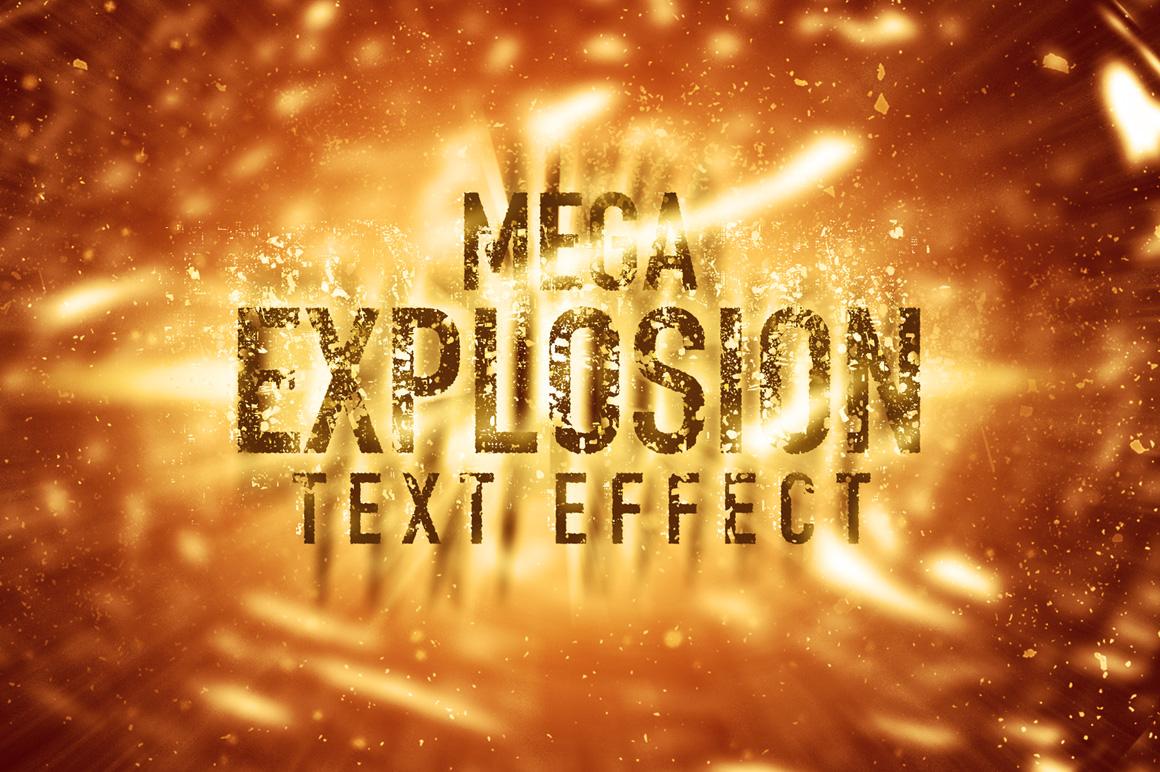 mega explosion text effect  sale