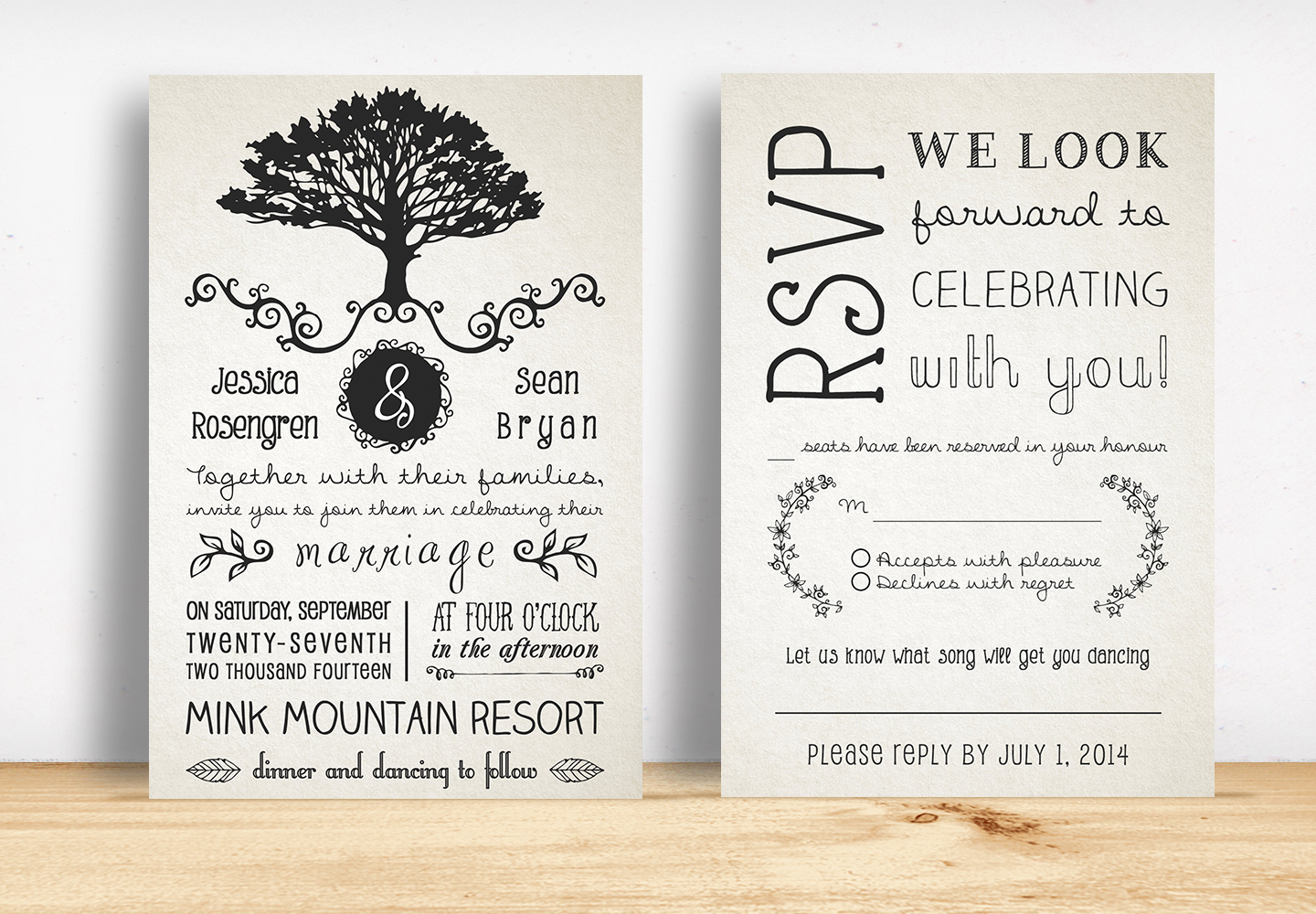 Rustic wedding invitation pack invitation templates on for Free rustic wedding invitation templates