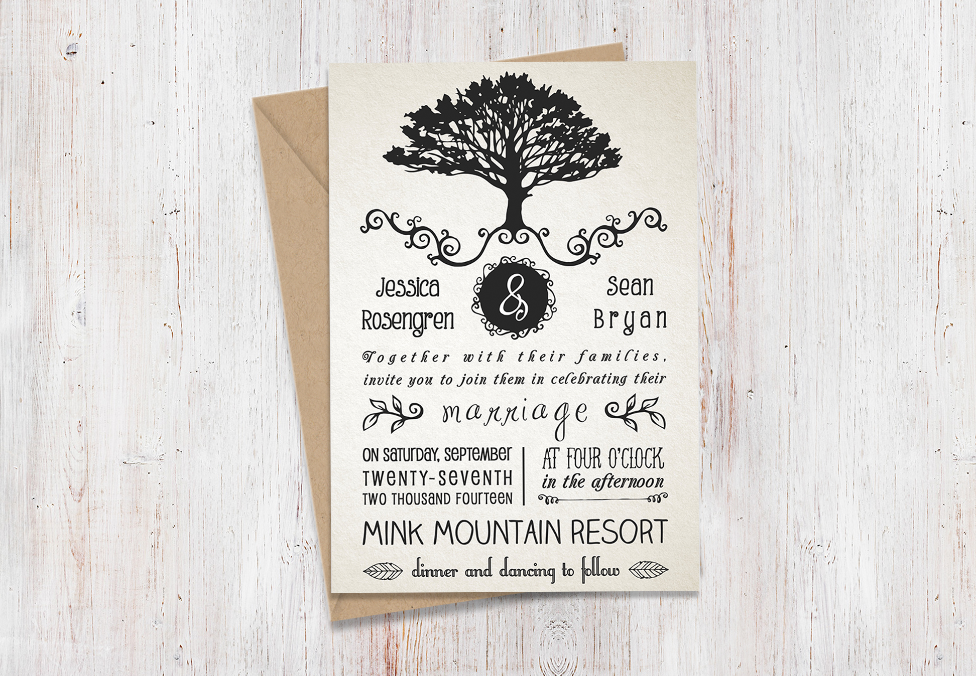 What To Include In A Wedding Invitation Pack: Rustic Wedding Invitation Pack