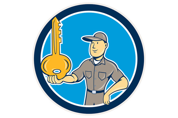 Locksmith Balancing Key Palm Circle