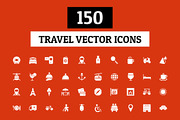 150 Travel Vector Icons-Graphicriver中文最全的素材分享平台