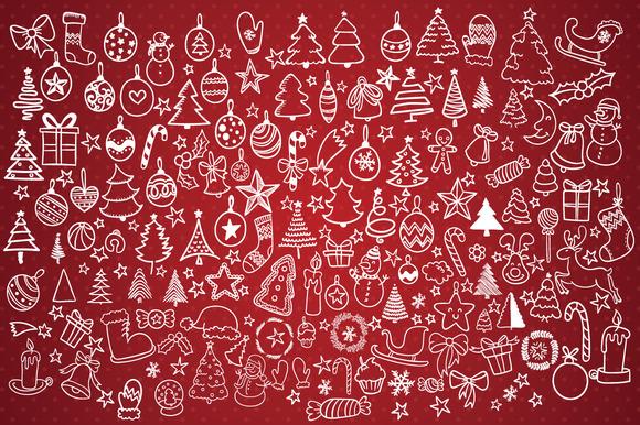 Hand Drawn Christmas Decorations
