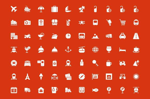 150 Travel Vector Icons - Icons - 2