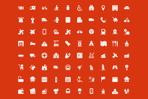 150 Travel Vector Icons - Icons - 3