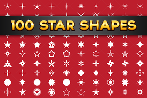 100 Vector Star Shapes