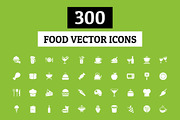 300 Food Vector Icons-Graphicriver中文最全的素材分享平台