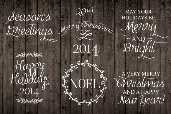 Holiday Christmas Word Photo Overlay