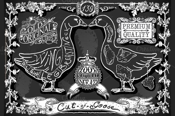 English Cut Of Goose's Blackboard