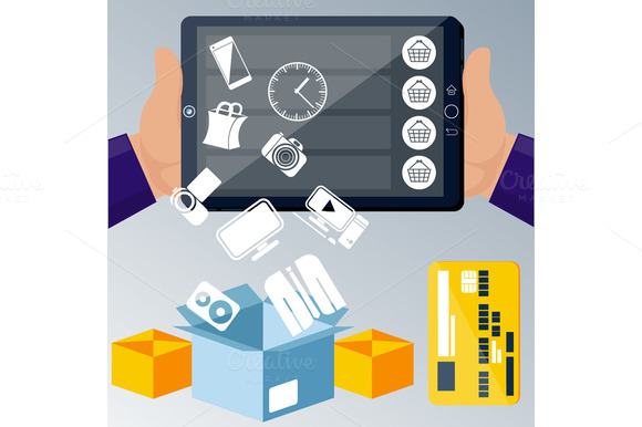 Online Ecommerce Technology Concept