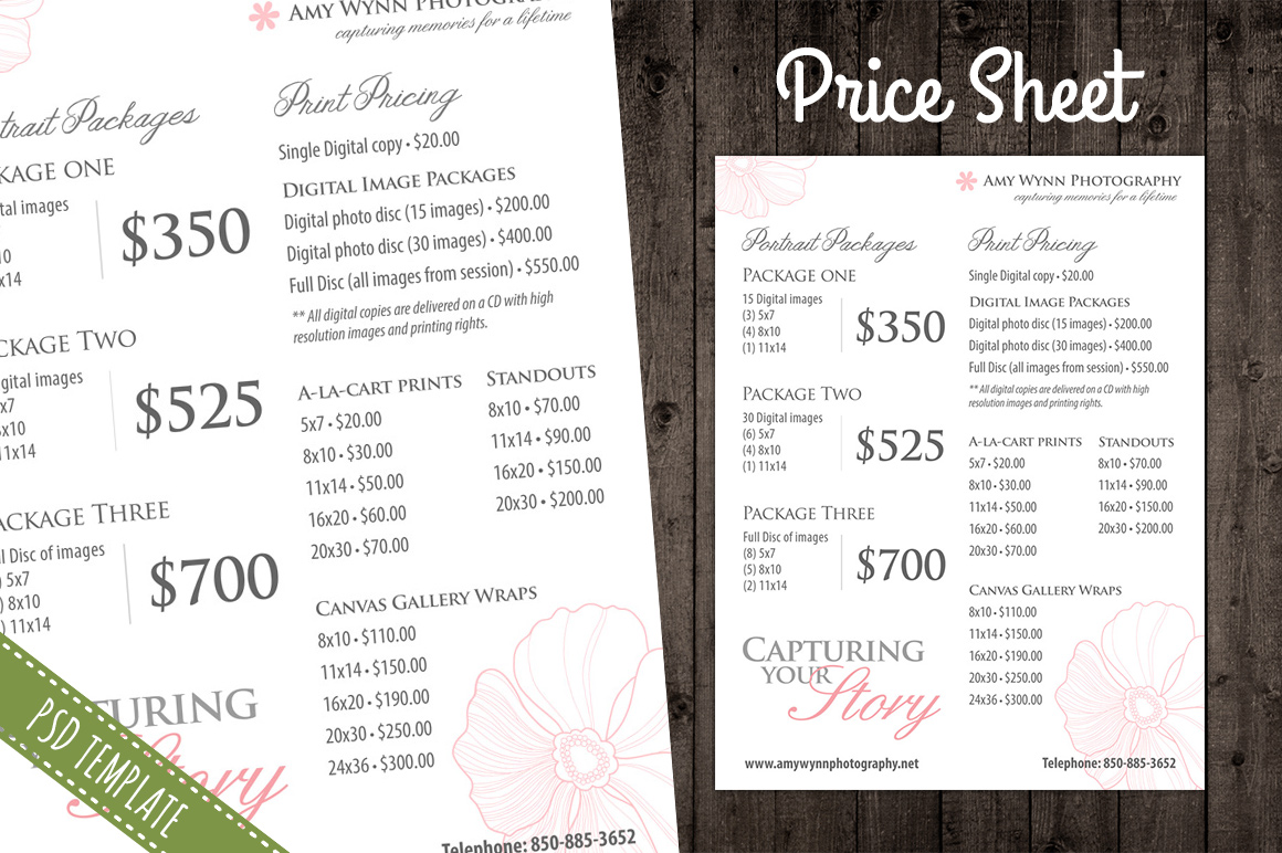 price list template word – Word Price List Template
