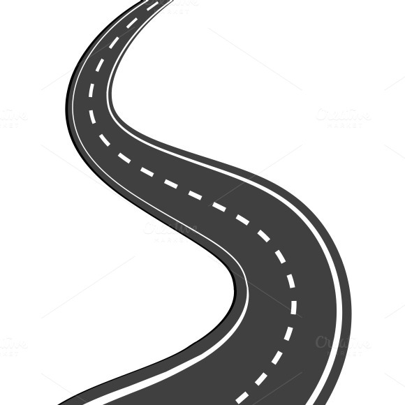 Winding road ~ Illustrations on Creative Market
