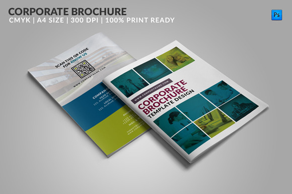 8 page corporate bifold brochure 2 brochure templates on for Two page brochure template