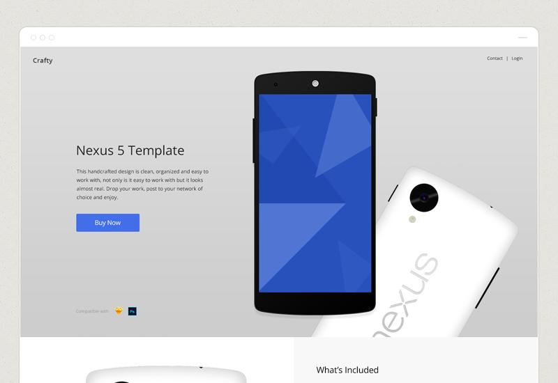 nexus 5 skin template nexus 5 showcase website templates on creative market