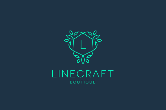 Linecraft boutique logo bundle logo templates on for Boutique hotel logo