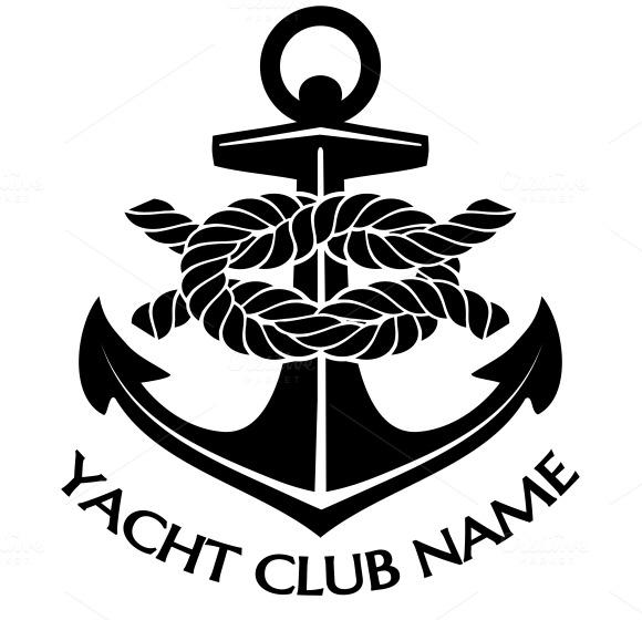 black and white yacht club logo icons on creative market