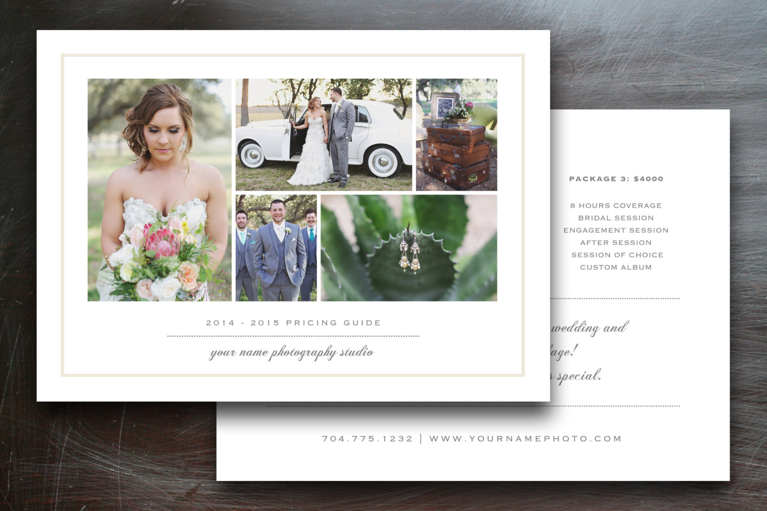 Wedding photography pricing guide brochure templates on for Photography brochure templates free