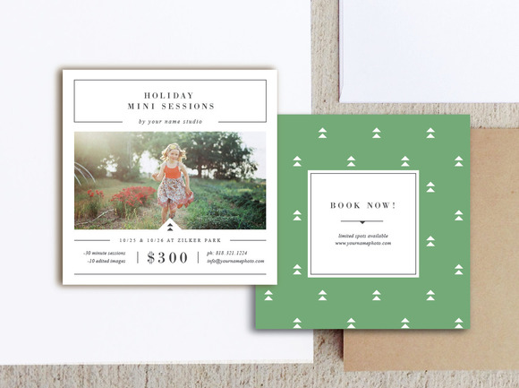Holiday mini session templates brochure templates on for Mini brochure template