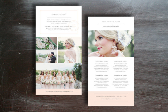 price list brochure template - photographer pricing guide brochure templates on