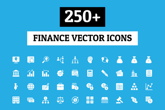 250+ Finance Vector Icons - Icons - 1