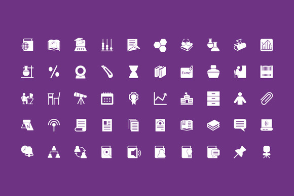200 Education Vector Icons - Icons - 3