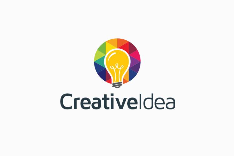 creative idea bulb logo logo templates on creative market