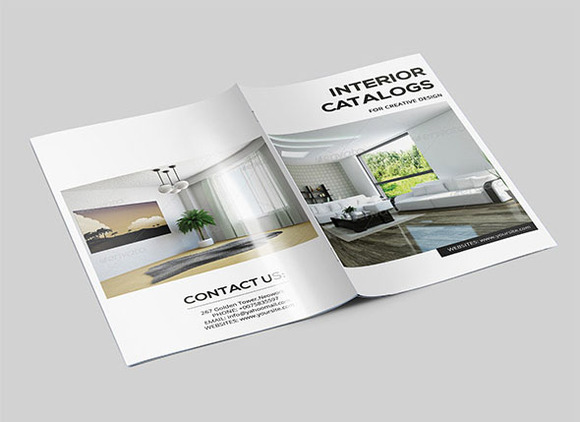 Interior catalog template 14page v70 brochure templates on creative market for Catalogue staff decor pdf