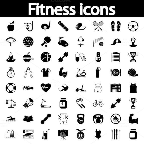 Fitness icons set ~ Icons on Creative Market