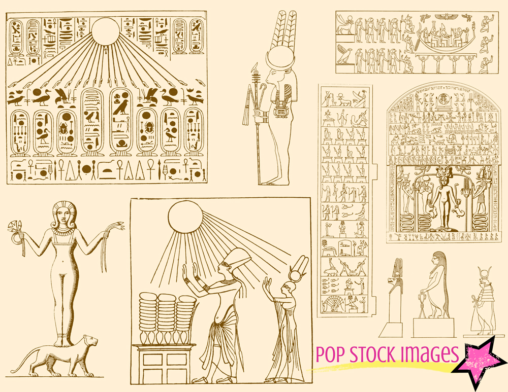 Ancient Egypt Brushes Amp Png Set Brushes On Creative Market