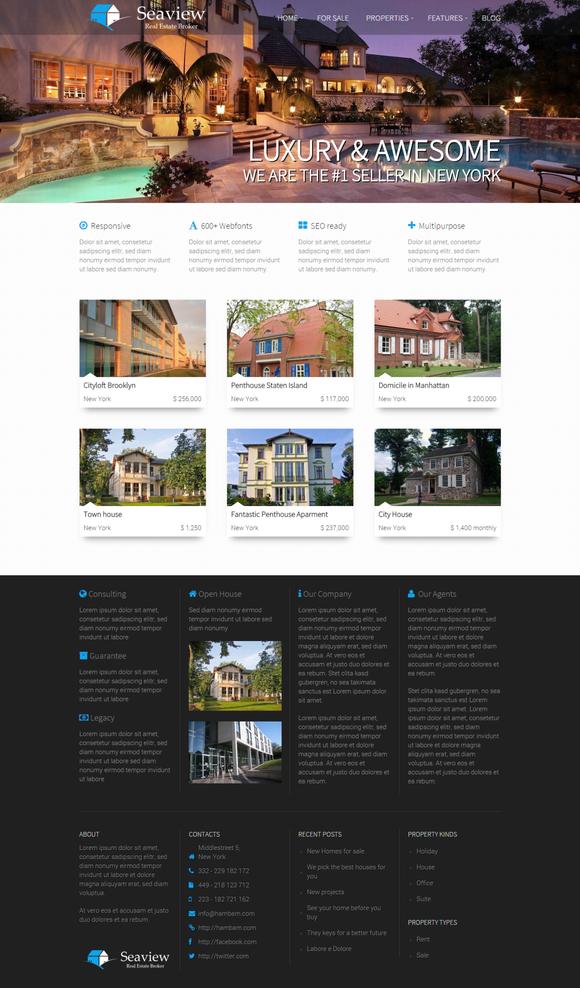 Seaview - Real Estate WordPress - Business