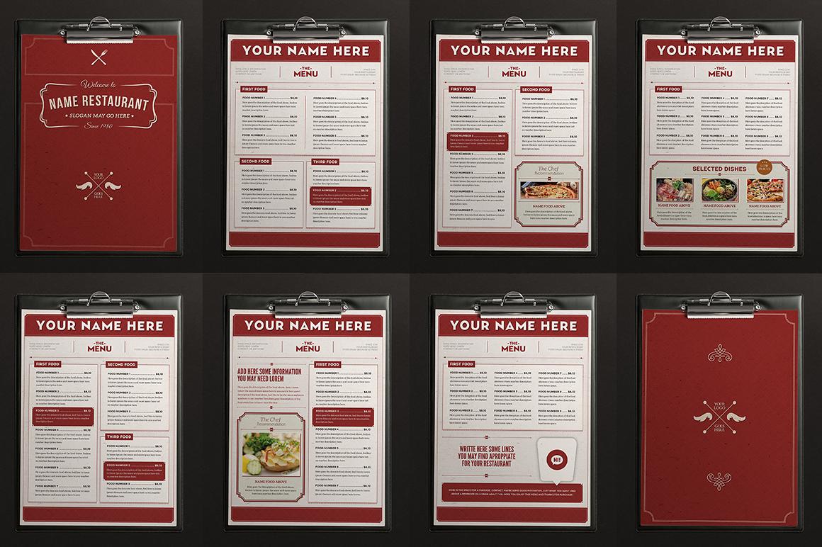 classy brochure design - classy food menu 2 brochure templates on creative market